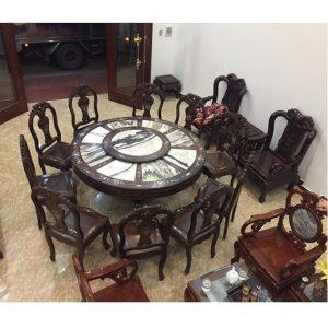 Bộ bàn ghế ăn 10 món gỗ Trắc hàng đẳng cấp