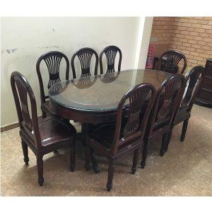 Bộ bàn ghế ăn gỗ gụ ta Mỹ Hà