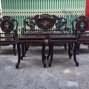 Bộ bàn ghế guột đào gỗ Trắc 6 món đẹp xuất sắc