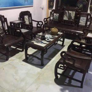 Thanh lý bộ bàn ghế triện 8 món hàng sâu tuổi